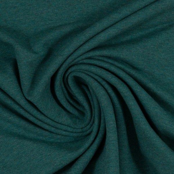 Jersey melange dunkelgrün