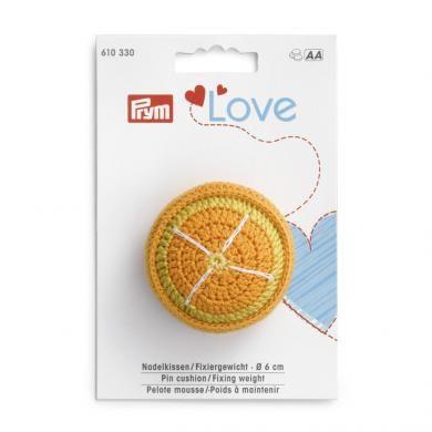 Nadelkissen/Fixiergewicht Orange PRYM LOVE