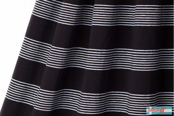Basicstreifen schwarz/weiß Jersey organic