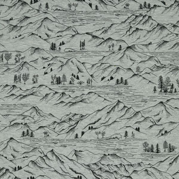Mountains Jersey grau melange