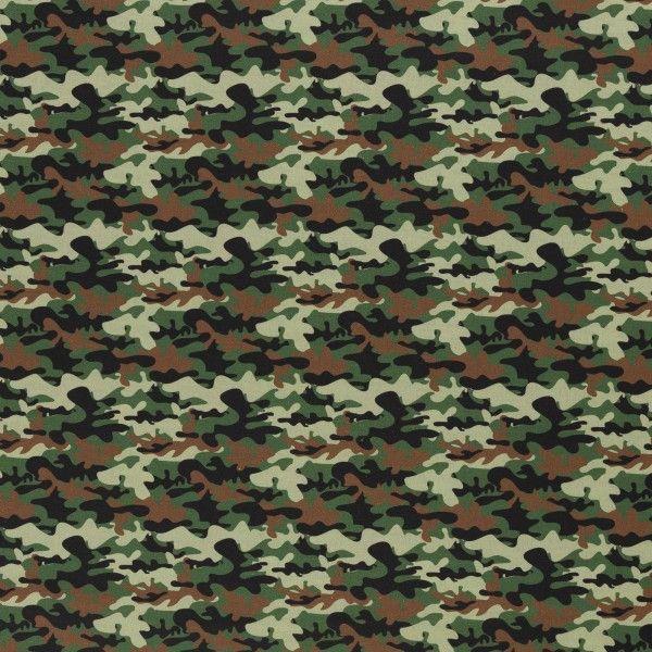 Camouflage grün Baumwolle