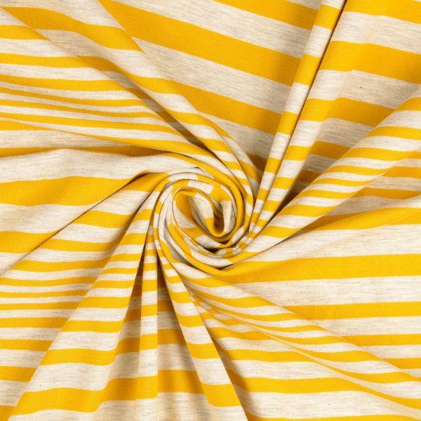 Streifen Jersey grau/gelb