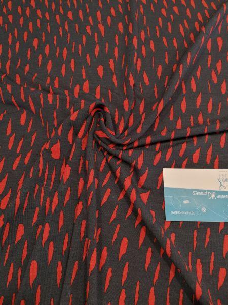 Tropfen blau/rot Tencel-Modaljersey