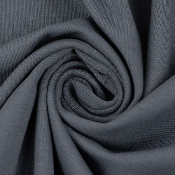 Sommersweat uni graublau