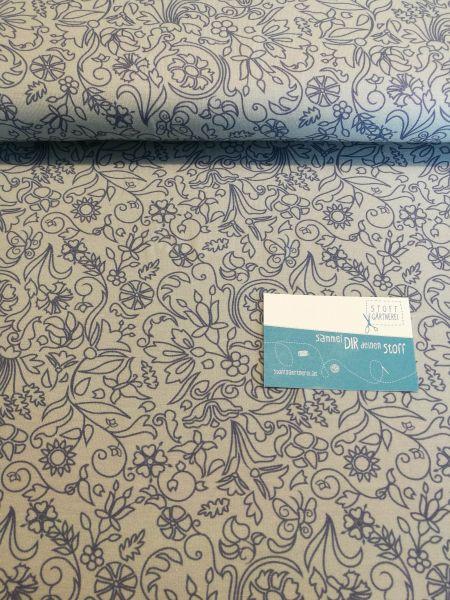 Estelle hellblau Jersey Reststück 0,90m