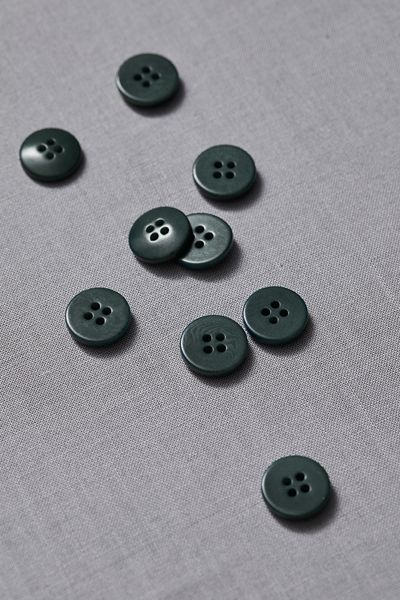 Plain Corozo Button 15mm deep green