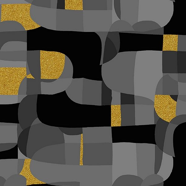 Abstract black Baumwolle