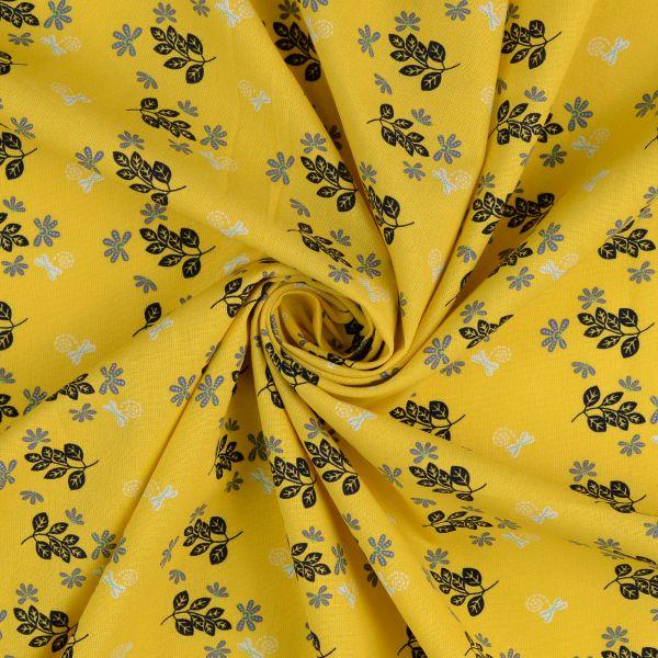 Blumen & Blätter Baumwolle organic