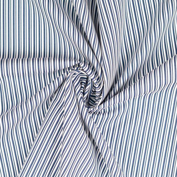 Längsstreifen blau/weiß Baumwolle