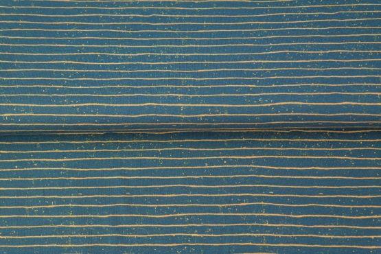 Streifen blau/senf Jersey