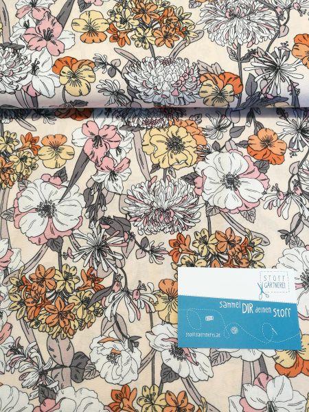 Blumenwiese Viskose