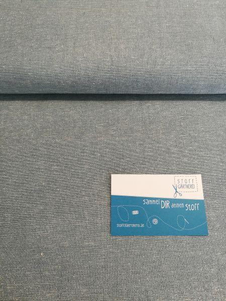 Baumwolle/Leinen mint/silber