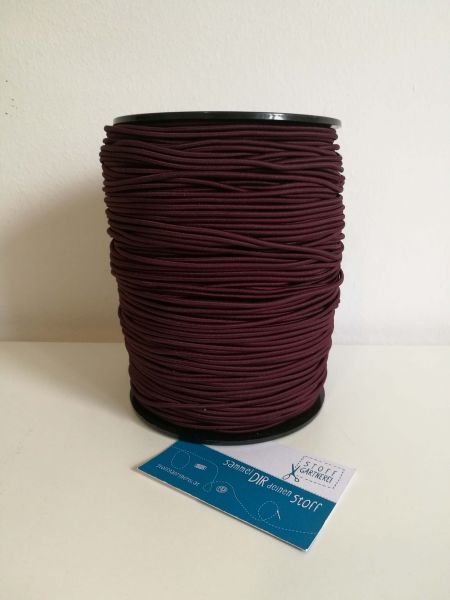 Elastikkordel 2,2 mm bordeaux