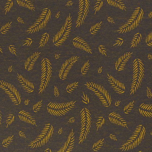 Twigs blau/gelb by Lycklig Design Jacquard