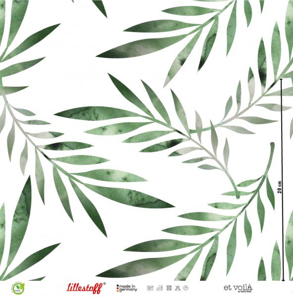 Palmenblatt Jersey organic Reststück 0,90m