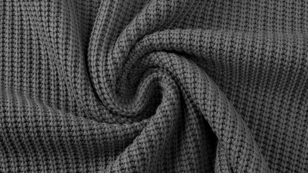 Baumwollstrick Kabel anthrazit