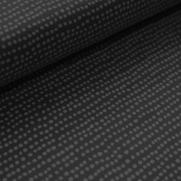 Dotted Line schwarz Jersey organic - Reststück 1m