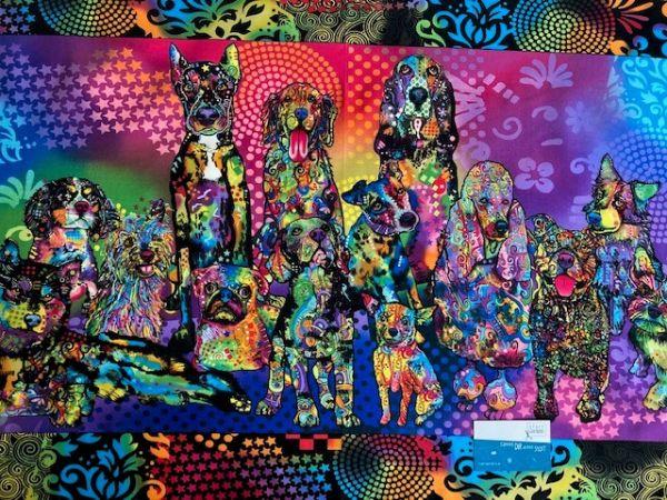 Dog Days Panel 0,55m Baumwolle