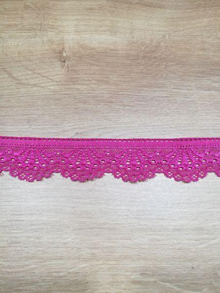 Elastische Spitze pink 30mm