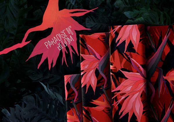 Paradise Bloom rot by Thorsten Berger Viskose