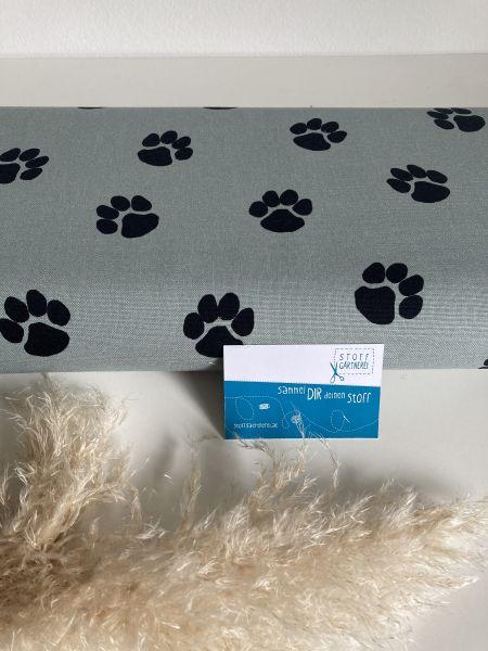 Dog paw Canvas light oldgreen