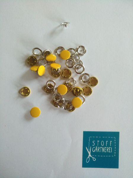 Jersey Druckknöpfe 11mm gelb