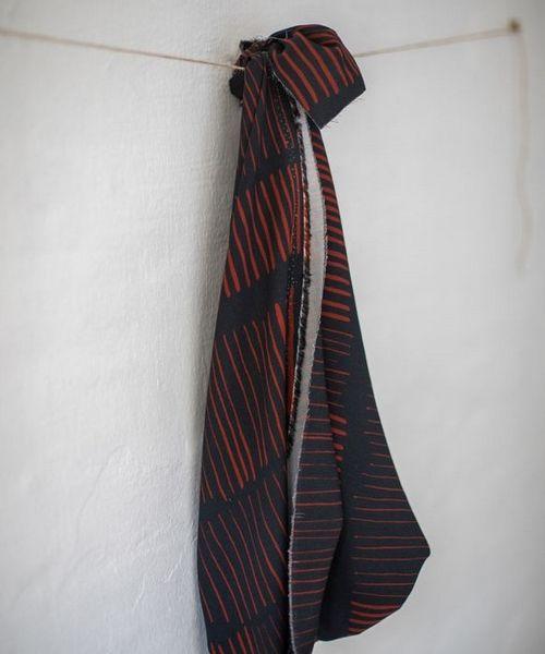 Sticks night-red Viskose Twill