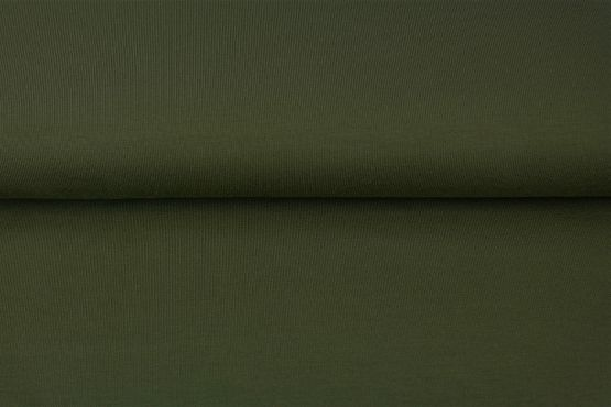 Jersey olivgrün uni - Reststück 0,5m