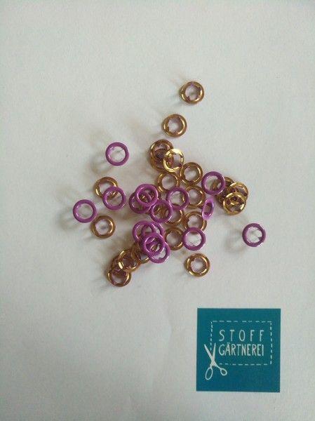 Jersey Druckknöpfe 11mm offen lila