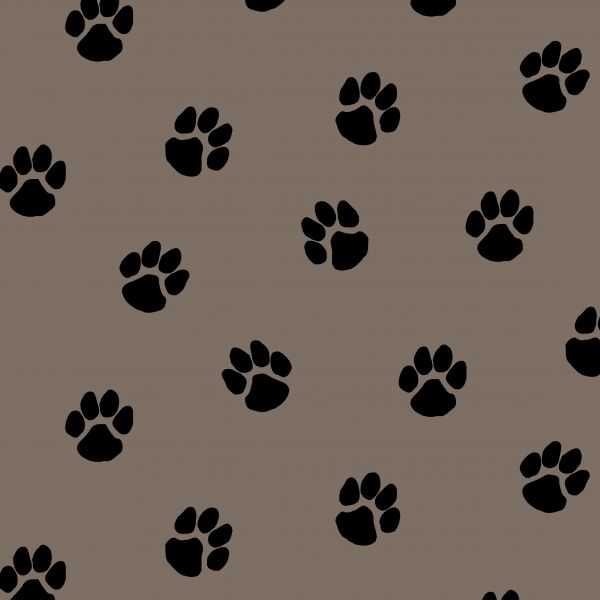 Dog paw Canvas taupe