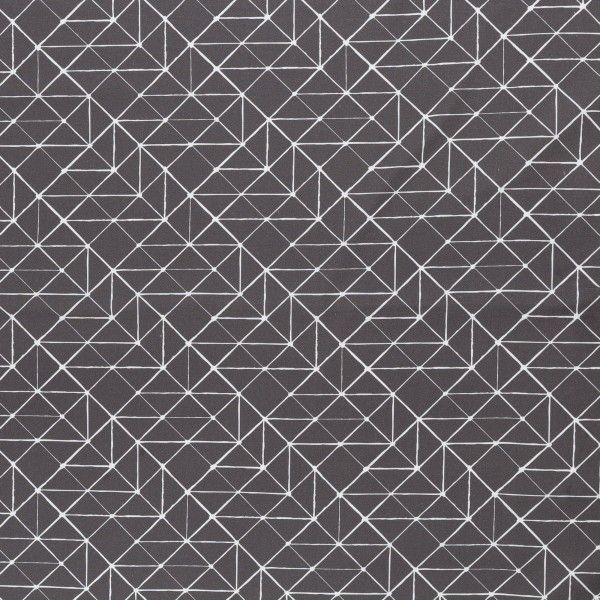 Kurt Grafik grau Baumwolle