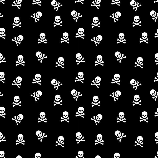 Totenköpfe schwarz Baumwolle