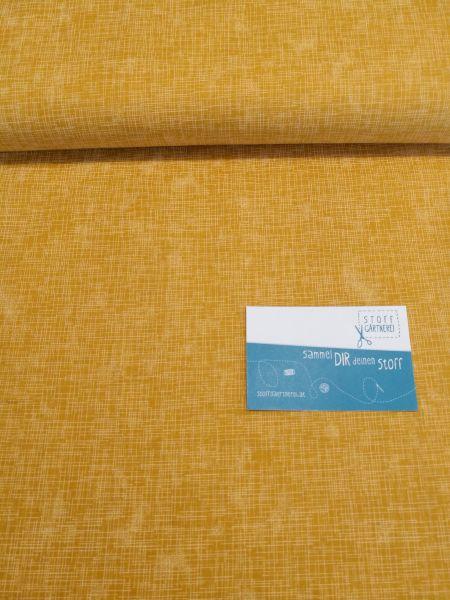 Quilters Linen senf Baumwolle - Reststück 0,8m