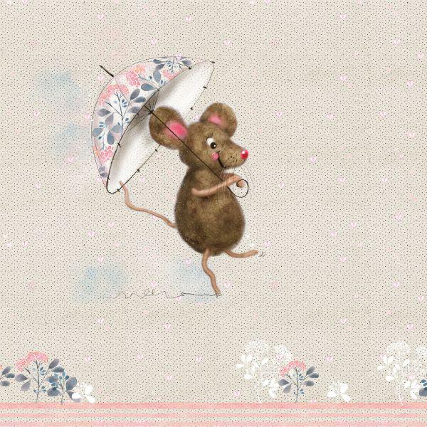 Frau Maus ist froh Jersey organic Rapport 1m