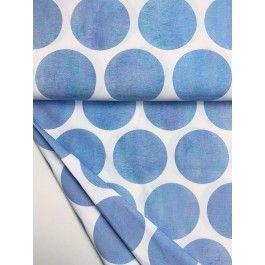 Riesenpunkte blau Aquarell Jersey organic