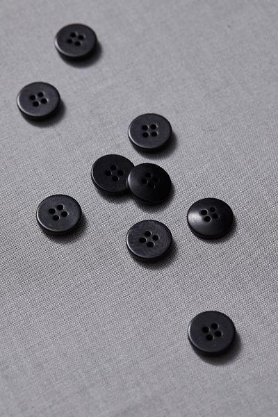 Plain Corozo Button 15mm black