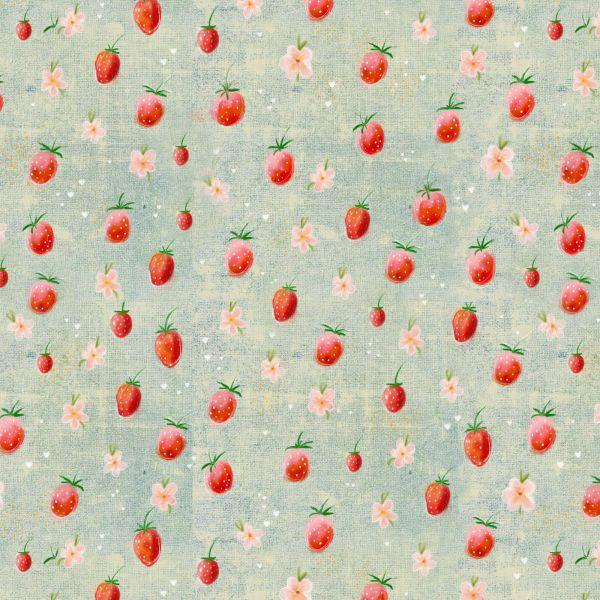 Erdbeerchen Webware organic