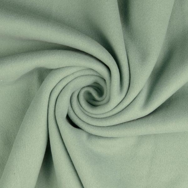 Baumwollfleece mint organic