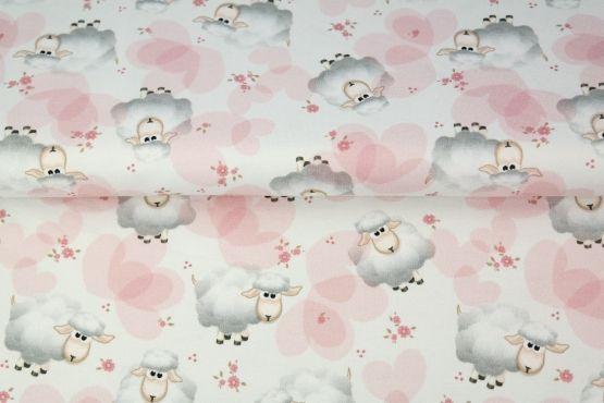 Sweet Sheep weiß/rosa Jersey