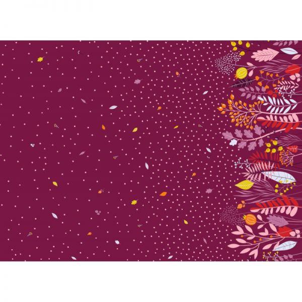Herbstgestöber violett Jersey