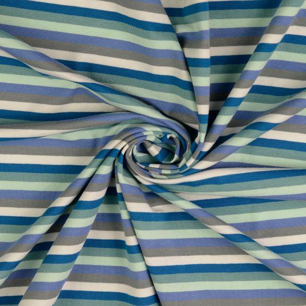 Streifen türkis/grau Jersey