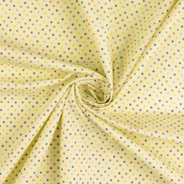 Punkte gelb Baumwolle