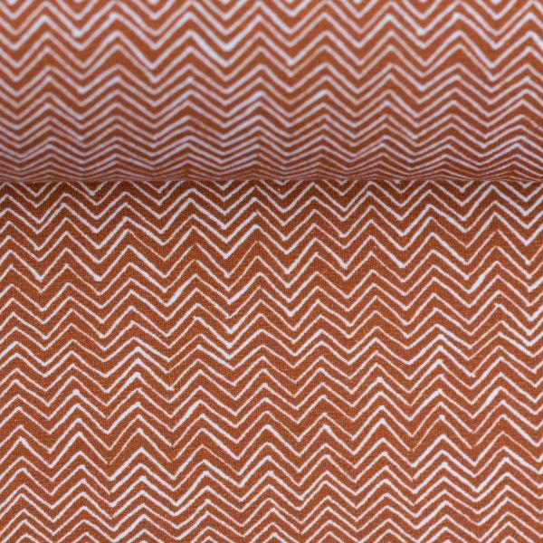 Autumn Bunny Chevron terracotta Jersey