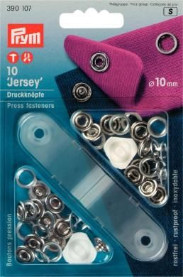 Jersey Druckknöpfe offen 10mm silber