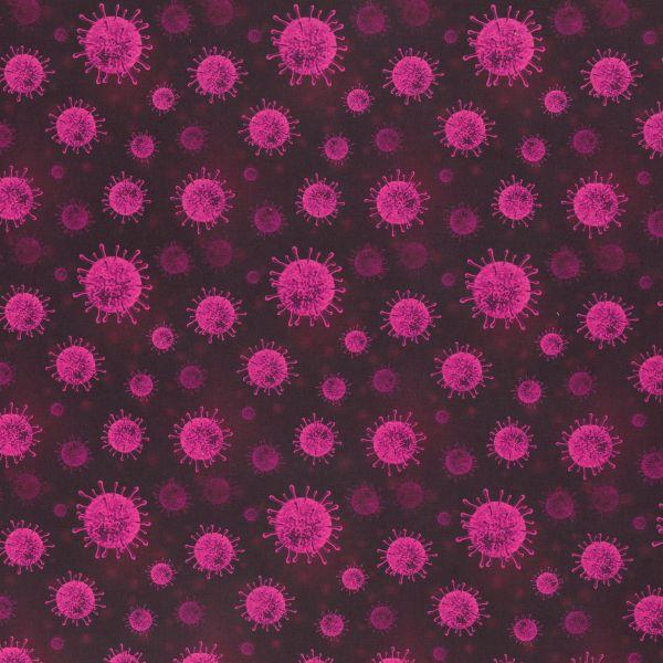 Coronavirus pink Baumwolle