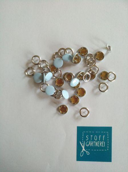 Jersey Druckknöpfe 11mm hellblau