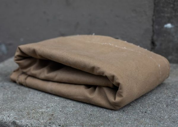 Heavy washed Canvas braun