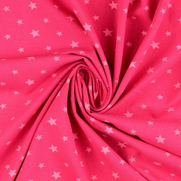 Sterne Jersey pink - Reststück 0,8m