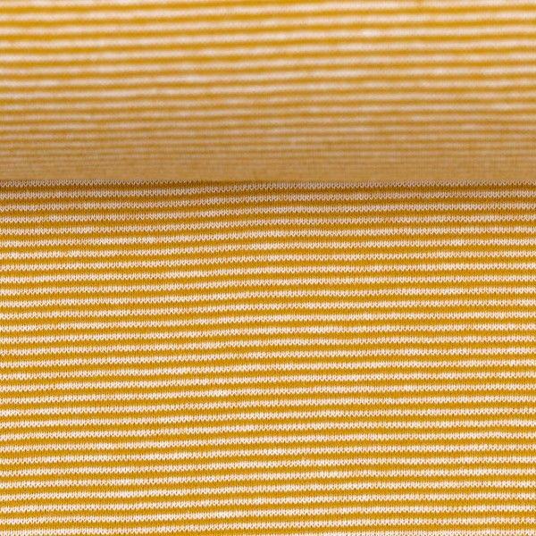 Bündchen gestreift goldgelb/weiß