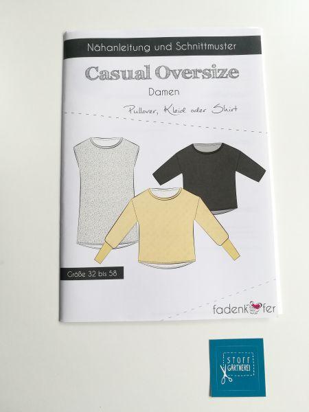 Pullover Shirt Kleid Causal Oversize für Damen